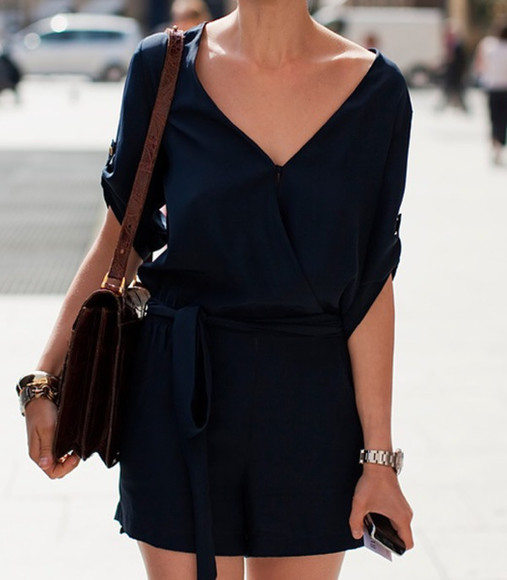 navy dress wrap dress