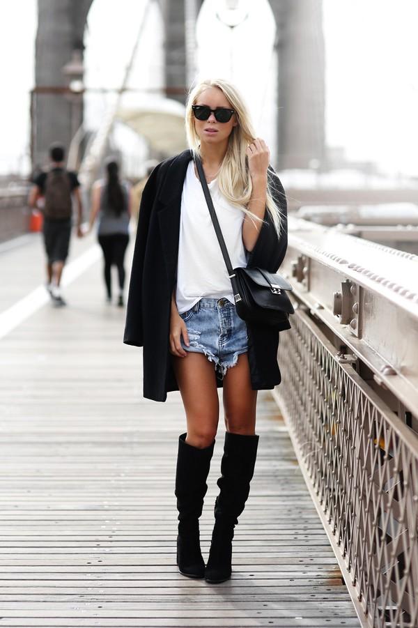 victoria tornegren blogger shoes t-shirt bag sunglasses