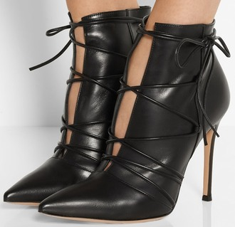 shoes lace up pumps cut-out ankle boots cutout booties shooties