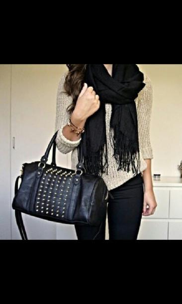 scarf bag sweater
