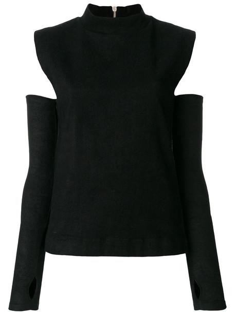 Andrea Ya'aqov top women spandex cotton black