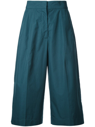cropped women cotton green pants