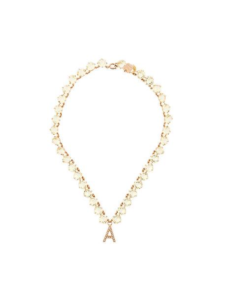 Ca & Lou women necklace yellow orange jewels