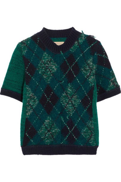 Burberry sweater wool green