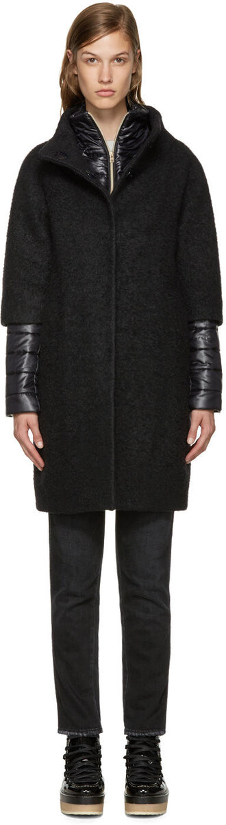 coat layered black