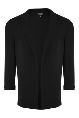 blazer soft black jacket