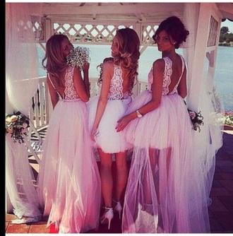 wedding dress dress pink dress lace dress cute beautiful style sexy dress hair accessories flowers shoes heels pattern bow dress white pink lovely pepa nail polish