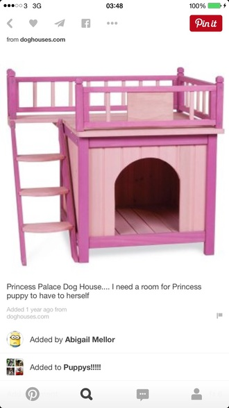 home accessory dog pink