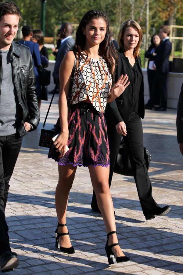 top skirt fashion week 2014 streetstyle selena gomez