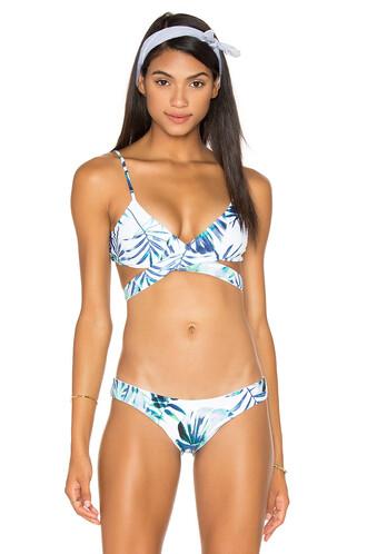 bikini bikini top cross blue