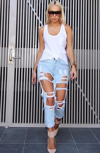 Tuulla Ripped Boyfriend Jeans