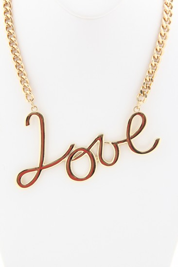 LoveMelrose.com From Harry & Molly | Love Necklaces - Gold