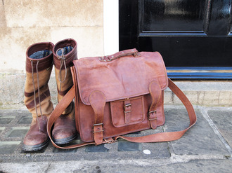 bag leather satchel tanned vintage bag vintage vintage satchel brown leather satchel