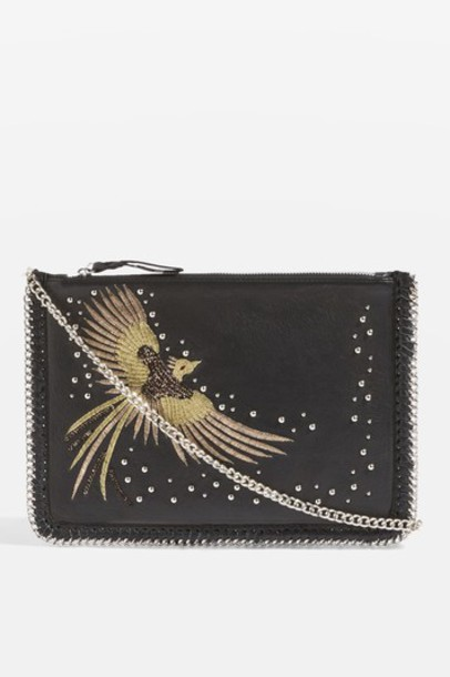 Topshop cross new bag leather black