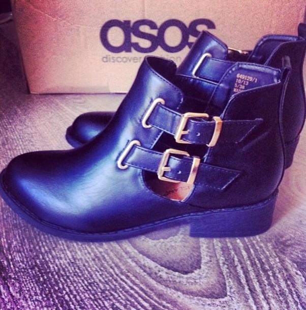 shoes cuir noir black decoupe