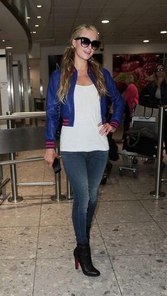 jacket jeans paris hilton ankle boots top
