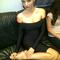 Long sleeve boatneck bandage dress black