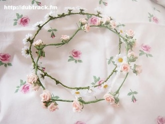 jewels flower crown flowers crown pink roses pink flowers summer beautiful pretty floral hat clothes
