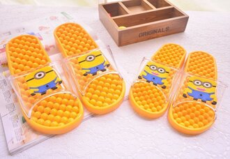 shoes casual alta qualidade barato summer shoes minions  sandals toys lovely sandals minions shirt