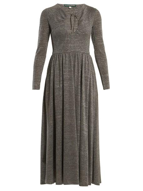 ALEXACHUNG dress cut-out silver