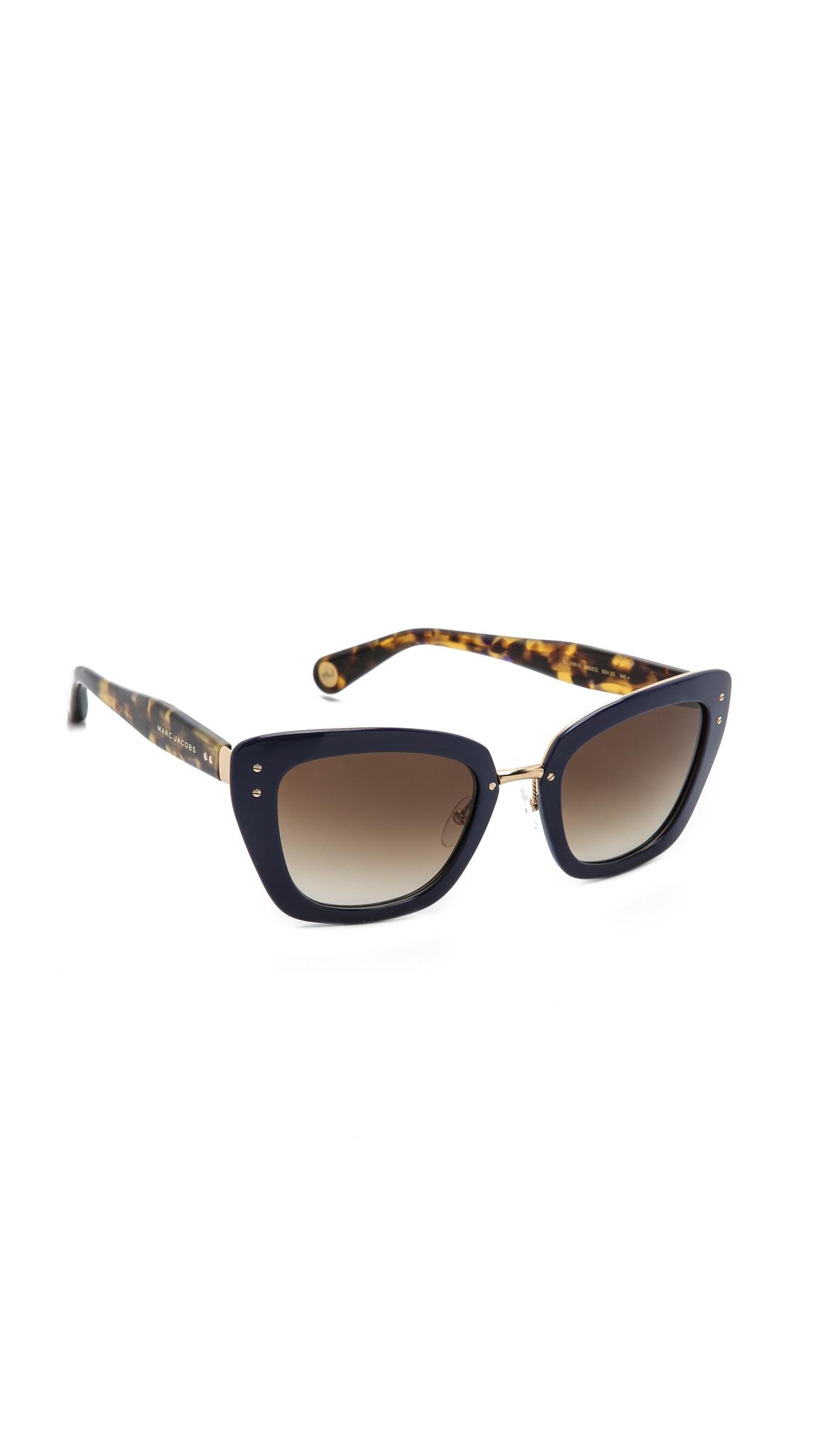 Frame Glasses Marc Jacobs : Marc Jacobs Sunglasses Thick Frame Sunglasses SHOPBOP