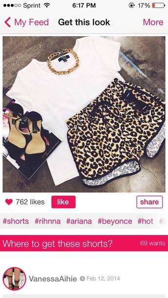 shorts leopard print
