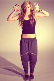 pants,sweatpants,harem,zip,shoes,tank top,sweater,pajamas,black,clothes,sweats,zipper sweats,chachimomma,swag,jewels,grey,vans,chillin,joggers,chill shorts,shorts,you want them,sweet,fabric,hip hop,baggy,shirt,harem pants,Chachi Gonzales,dance,sportswear,cute,celebrity style,harem sweatpants,black sweatpants,jumpsuit,harlem pants,chachi pants,jeans,tracksuit,lovely pepa,blouse,shashi,chichi,love,zipped pants