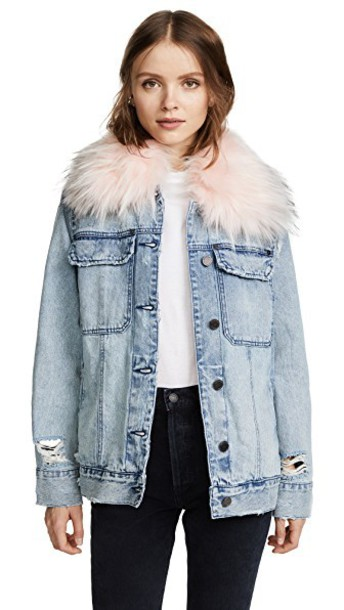 Blank Denim jacket snowflake