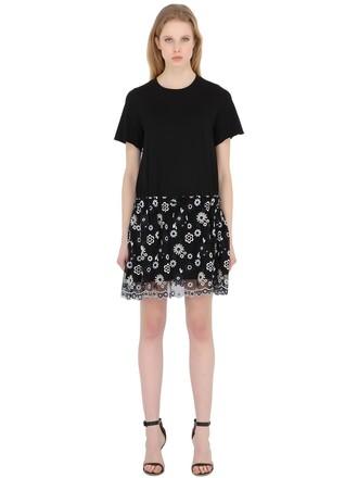 dress scalloped cotton black