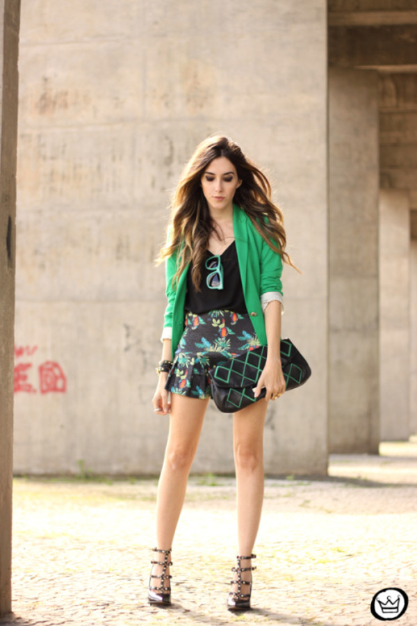 fashion coolture blogger bag jacket sunglasses jewels skirt shoes
