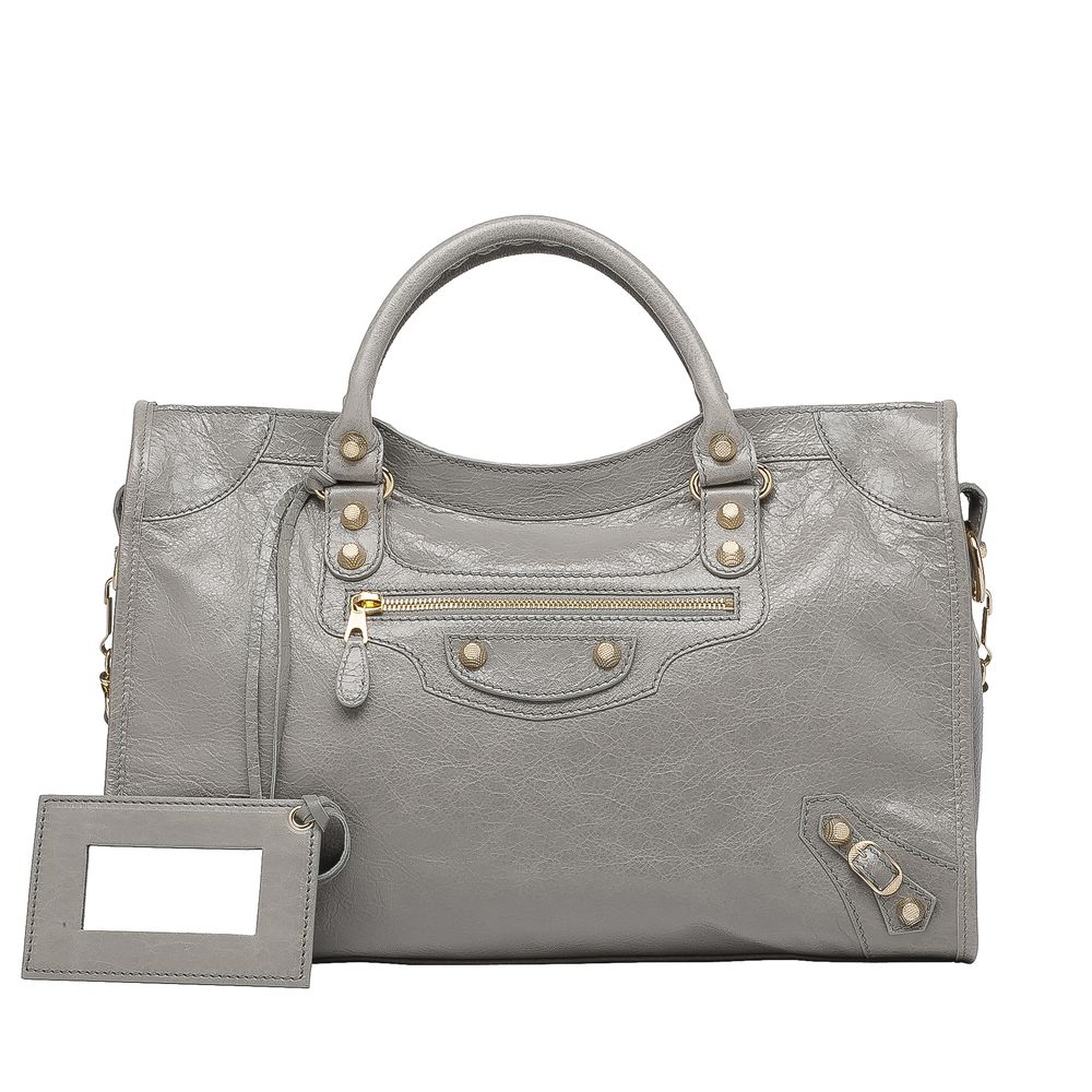 Balenciaga Giant 12 Gold City Balenciaga - Top Handle Bags Women color Gris Pyrite - Handbags Balenciaga