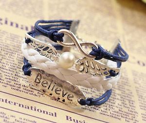1X Harry Potter Infinity Golden Snitch Believe Bracelet Handmade Gift-Dark Blue | eBay