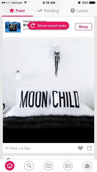 home accessory bedding pillow white black boho decor dreamcatcher