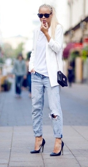 white blazer jacket smart casual