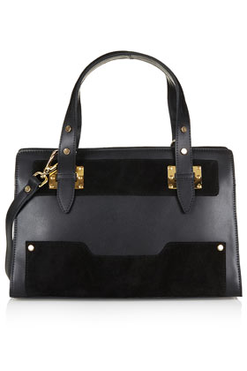 Leather and Suede Plated Tote - Topshop