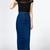 Blue High Waist Button Decor Split Back Bodycon Denim Skirt
