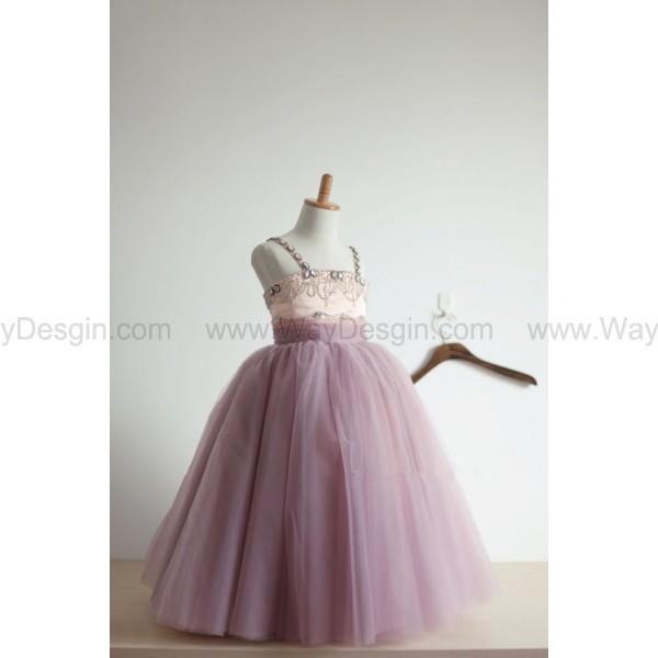 beaded tulle flower girl dress flower girl dress princess dress dress