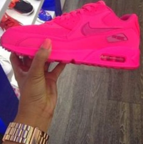 shoes solid pink air max