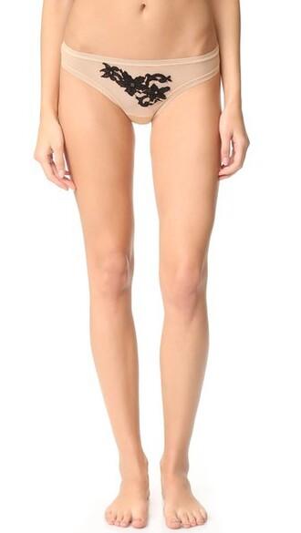 thong nude black underwear