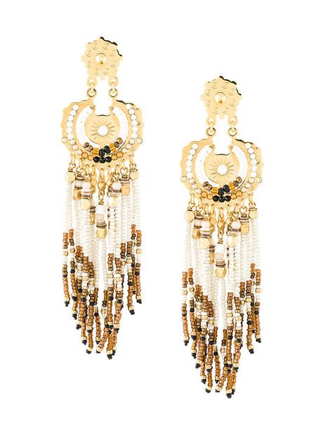 Gas Bijoux women earrings gold white jewels