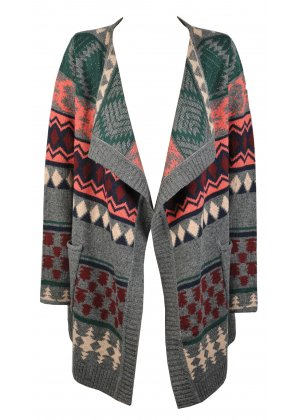 Ichi Multi Coloured Waterfall Cardigan | Ichi Waterfall Cardigan