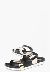 shoes,slide shoes,metallic shoes,flats,metallic slides