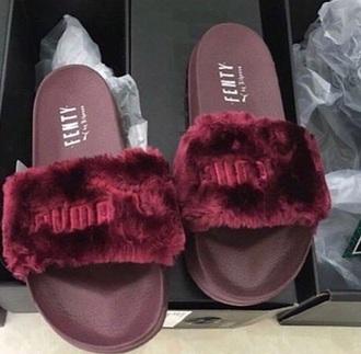 shoes red puma x rihanna puma cute