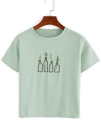 t-shirt green graphic tee