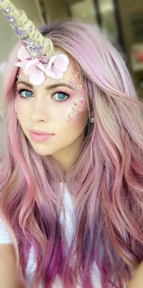 hair accessory costume cute pastel glitter pastel hair pink hair long hair unicorn. Black Bedroom Furniture Sets. Home Design Ideas
