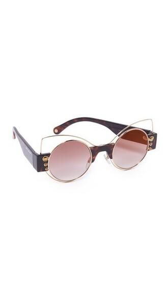 fashion dark sunglasses brown