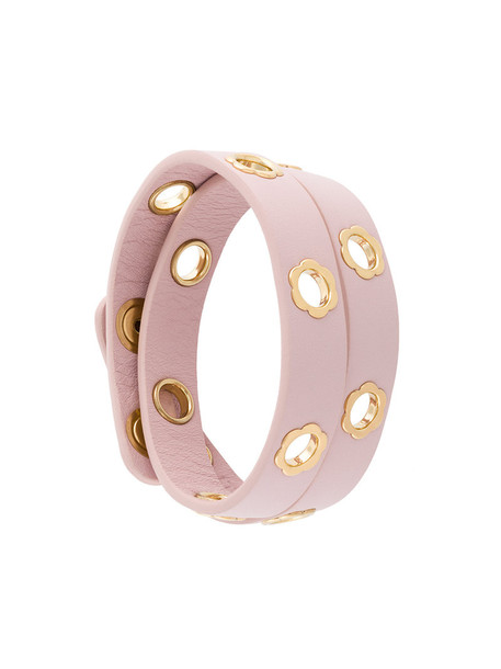 Salvatore Ferragamo women leather purple pink jewels