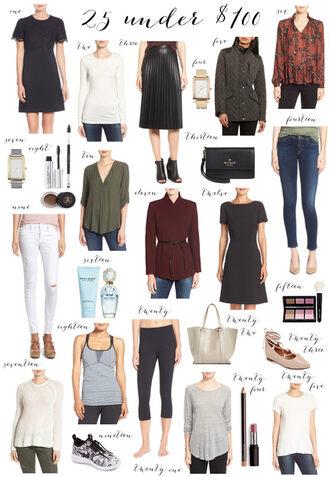 ivory lane blogger dress t-shirt skirt jewels coat blouse jeans sweater tank top shoes leggings bag make-up