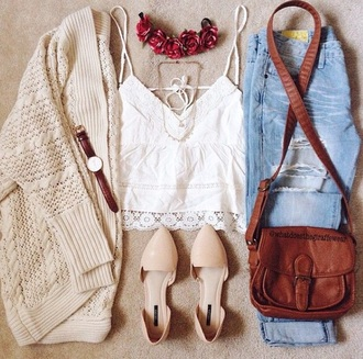 cardigan sweater sweatpants mug bag