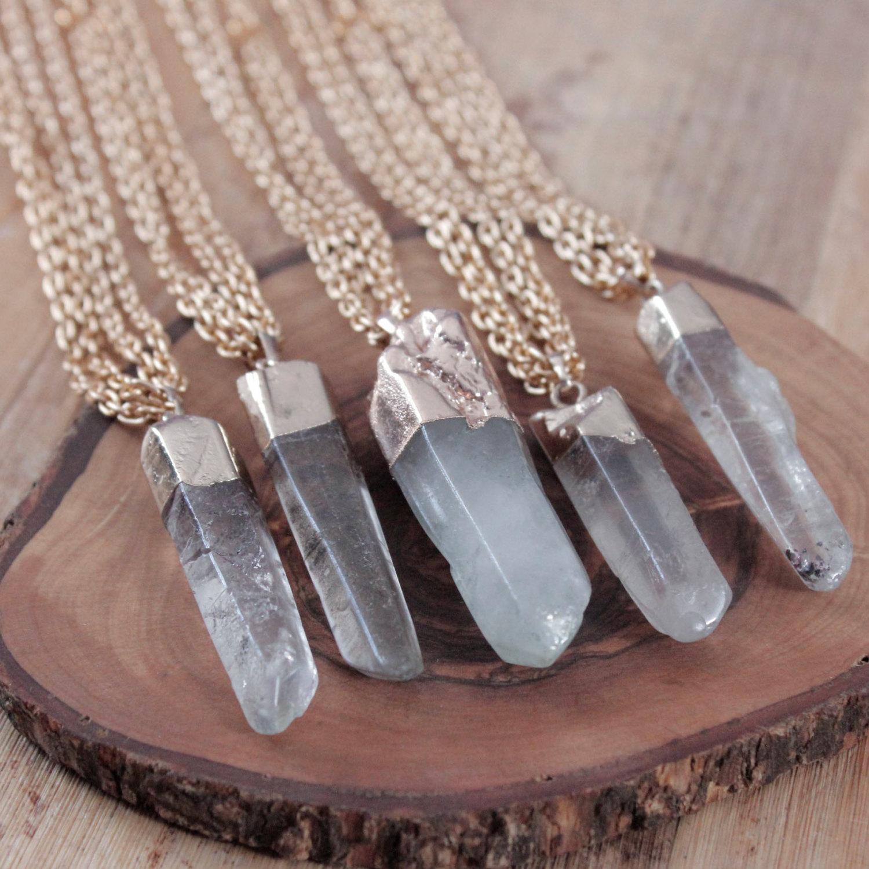 Is quartz considered a natural stone - Celadonite Quartz Point Necklace Gemstone Necklace Mineral Necklace Mineral Natural Stone Pendant Boho Chic Cute Indie Hippie